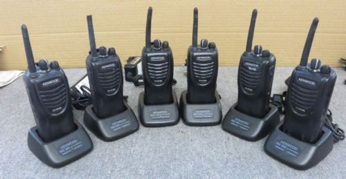 6 x Kenwood ProTalk TK-3301 Analogue Transceiver Two Way Radio Walkie Talkie +CH